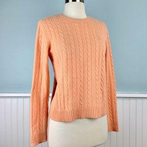 Ralph Lauren Light Peach 100% Cashmere Sweater